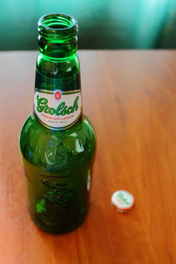 Grolsch premium lager. Бутылка моего 30-ого Дня Рождения. Сохраню на память =)