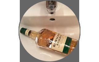 Дезинфекция раковины ирландским виски