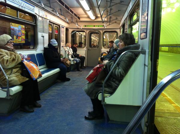 В метро 1 января 2016 года =)