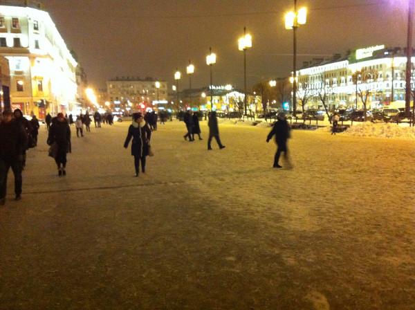 Сенная Площадь. Петербургская зимняя сказка в начале ноября =)