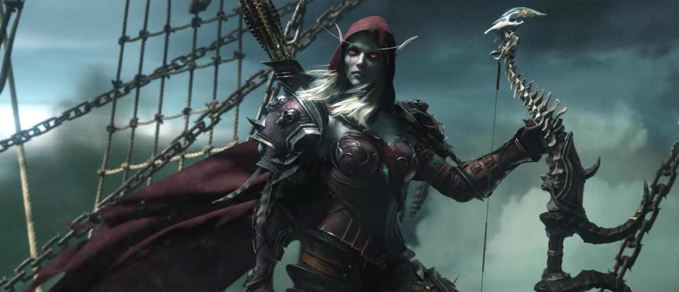 Сильвана из трейлера Легиона. На эльфийку крови похожа гораздо больше.