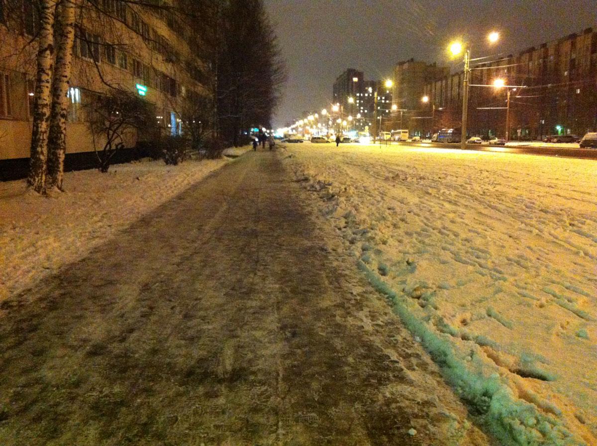 30 ноября 2017 в Петербург пришла зима